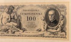 Jedna z našich nejkrásnějších bankovek. Byla ale téměř hned stažena z oběhu, protože ji občané ČSR nepřijali - tatíček Masaryk a nahotinky?! Prague, Cover, Envelope