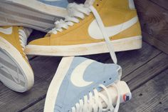 nike blazer vintage in yellow & light blue #nikevintage
