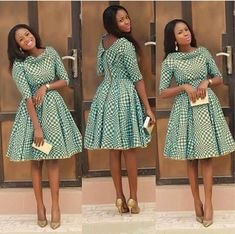 African Classy Midi Dress African Midi by AfricanModernFashio