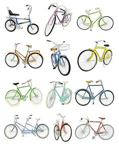 Many bicycles! wheels=bicycles x 2! spokes=wheels x however many spokes a wheel has! (32?)