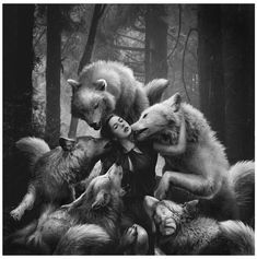 Wolf love | Woman with wolf | Pinterest | Wolves and Love