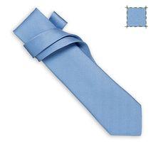 Unie Chevron Hermes silk twill tie, hand-folded, 2.75''