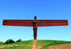 10 spectacular statues - The Angel of the North an hour from Grindleton