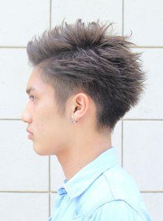 外国人風ツーブロックショート(髪型メンズ)