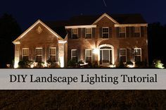 #DIY Landscape Lighting Tutorial.  Add your own landscape lights.  Makes a dramatic difference to curb appeal.