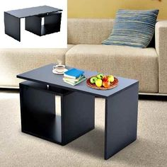 Black Coffee Table Living Room Lamp Desk TV Stand Computer Workstation Study New #SideTableFurniture #Contemporary