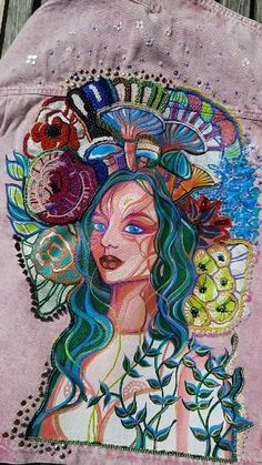 Custom Made, Hand Painted, Denim, Etsy, Jackets, Painting, Clothes, Art, Painted Jeans