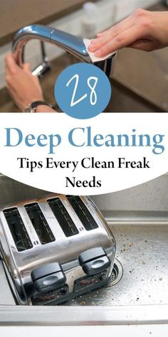 28 Deep Cleaning Tips Every Clean Freak Needs #springcleaningtips