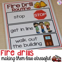 Emergency Drills Visual Routine Posters & Supports (Fire Drill, Earthquake, Tornado, & Intruder Drills strategies to make fire drills less stressful and scary for kids in your early childhood classroom Autism Classroom, New Classroom, Kindergarten Classroom, Classroom Ideas, Head Start Classroom, Preschool Behavior, Classroom Board, Toddler Classroom, English Classroom