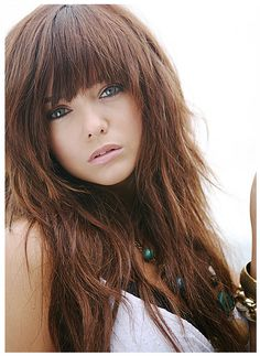 hair styles with clips hair with big bangs bangs hair hair with 2382 | 9b84ca97a1955c2300db2382aef18b03 long shaggy hairstyles full fringe hairstyles