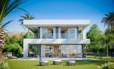 Facade Design, Exterior Design, Small Villa, Villa Plan, Modern Villa Design, Duplex House Design, Dream House Exterior, Facade House, House Layouts