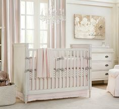 white pink baby nusery. I looooove this white with super soft pink xxx