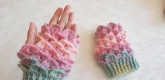 Krokodil Modelli Eldiven Yapımı Fingerless Gloves, Arm Warmers, Fingerless Mitts, Fingerless Mittens