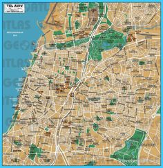 awesome Map of Tel Aviv