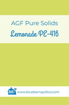 $18 CAD per yard AGF Pure Solids PE-416 Lemonade. Premium PIMA Cotton 44″ wide, The purest hues meet Art Gallery Fabrics' soft hand and superior quality. All the solids you have been looking for to match your collections are here! Sold by the 1/4 yard or in Fat Quarters, ships to Canada and USA.   #agfsolids#agfpuresolids #longarmquilting   #ilovequilting#quiltersdream #yegquilter #colorful  #fabriclove #canadianquiltshop #sewcanadian #onlinequiltshop #onlinequiltstore #onlinefabricshop Met Art Galleries, Art Gallery Fabrics, Longarm Quilting, Superior Quality, Fat Quarters, Lemonade, Quilt Patterns, Ships, Canada