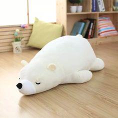 Белый медведь мягкая мягкая игрушка белый медведь кукла милые плюшевые игрушки подарок для любителей и детей 55 см 75 см размер купить на AliExpress