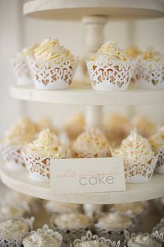 Lace Cupcake Liners|Jillian Tree Photography |See more: http://www.weddingwire.com/wedding-photos/i/cupcakes/i/572f95991cde53fc-1d5b986755a1c76a/979211aa8ae133cb?tags=cupcakes&page=1&cat=cakes&type=search #wedding #cupcakes