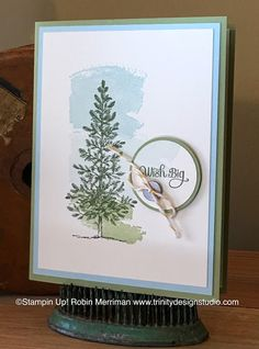 Love the simplicity of Robin's card! Lovely as a Tree, Work of Art, And Many More  - all from Stampin' Up!