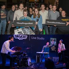 We had so much fun with Pure Bathing Culture at our #KeepOregonWell show at Kink.fm's Skype Live Studio!  #PDXmusic #MentalHealthMatters #TrilliumRocks