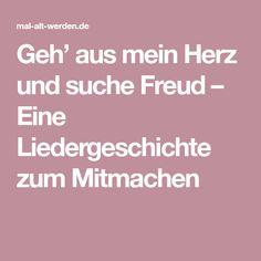 Geh' aus mein Herz und suche Freud – Eine Liedergeschichte zum Mitmachen