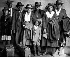 African Americans started traveling North to find comfort in the more accepting cities in the United States.
