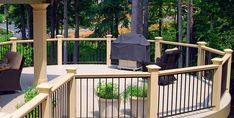 Check out our gallery of finished customer projects to inspire your next creative deck railing project. You'll find many beautiful deck railing ideas using cable railing. Vinyl Deck Railing, Deck Railing Systems, Deck Railing Design, Patio Railing, Deck Design, Railing Ideas, Cable Railing, Pergola Ideas, Backyard Ideas