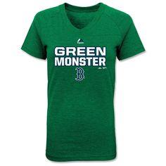 Girls Tri-Blend Green Monster V-Neck Tee