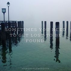 Sometimes you need to get lost to be found. #life #lost #found #quotes #lifequotes #foggy #austria #salzburg #zellamsee #pineapplewonders