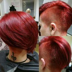 Red pixie haircut