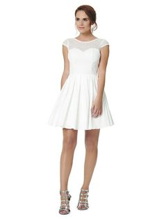 Size 10 Chi Chi London white dress