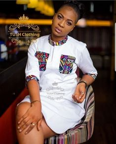 Short African Dresses, African Blouses, African Shirts, African Print Dresses, Short Dresses, African Dress Styles, Ankara Dress Styles, Blouse Styles, African Fashion Ankara