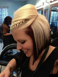 Straight bob with a braid. Treat your blonde, beautiful hair to the best haircare from Beauty.com.