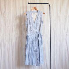 YAECA - Cashe Coeur Sleeveless OP #blue stripe