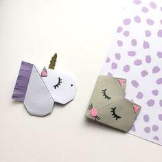 Hier, c'était journée enfant malade avec Manon, du coup pour occuper ma petite maladou, nous avons réalisé quelques jolis marques page en origami ! Ils sont très simples à faire, déclinable pour qu…