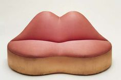 """MAE WEST'S LIPS"" SOFA by SALVADOR DALÍ & EDWARD JAMES (1938)"