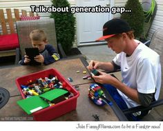 Generation gap in a picture... I don't know if this is funny or sad. I'm thinking that it is sort of sad