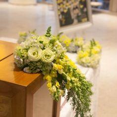 #yellow #weddingtheme #flowerdecoration #flowergate #gallerytable #receptiontable #pingpong #welcomedrinks Flower Decorations, Wedding Decorations, Table Decorations, Reception Table, Floral Wreath, Wreaths, Yellow, Flowers, Home Decor