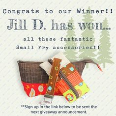 Congrats to our Small Fry Accessory bundle winner!  Didnt win?  Sign up at http://ift.tt/29TNb9J to become a Lakeside Club Member and well email you when the next giveaway starts!  #SmallFry #handsewn #giveaway #accessoriesrock #winner