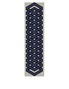 Peyote Bracelet Pattern - Celtic Blue (Buy 2 Patterns - get a 3rd. Pattern FREE)