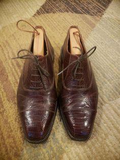 a355f7245a3 John Wagner Ostrich Leg Oxfords Mens Euro Size 41 Medium  fashion  clothing   shoes