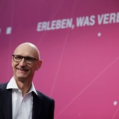 CEO of Deutsche Telekom at annual financial press conference in Bonn