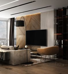 I love this interior design! It's a great idea for home decor. Home design. Living Room Tv, Interior Design Living Room, Living Room Designs, Design Room, Cozy Living, Living Area, Lounge Design, Apartment Interior, Bedroom Apartment