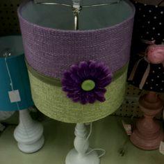 Purple and green lampshade idea