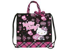 Hello Kitty 2 Way School Kids Tote Bag Backpack Logo SANRIO
