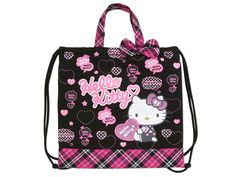 Hello Kitty 2 Way School Kids Tote Bag Backpack Logo SANRIO