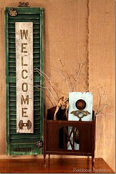 Shutter Welcome Sign