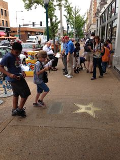 We love seeing kids interested in learning about the St. Louis Walk of Fame!