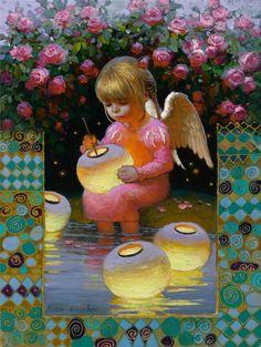 Rose Garden Angel by Victor Nizovtsev