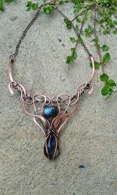 Collar de hada envuelta de alambre de cobre con por Tangledworld