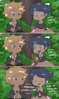 Adrien and Marinette get married plus Ladybug and Chat Noir finally meet! This is the first part of the Childhood Friends AU no one asked for LOL. Miraculous Ladybug Fanfiction, Miraculous Ladybug Funny, Ladybug Comics, Miraclous Ladybug, Cute Baby Cats, Name Art, Star Butterfly, Childhood Friends, Star Vs The Forces